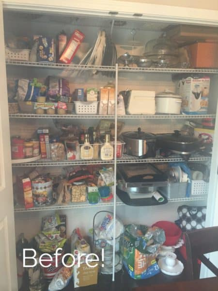 How to organize a pantry using space optimization and de-clutttering techniques!