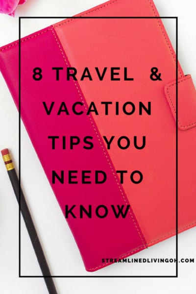 Learn the secret to staying organized while planning a trip and heading out on vacation! You'll enjoy your trip more when you're not wasting time looking for things!