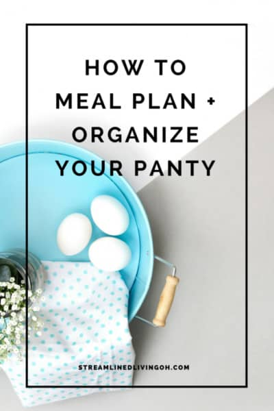 How to meal plan and organize your pantry at the very same time! This method can make an overwhelming job so much easier!