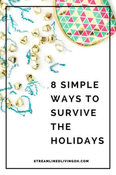 These holiday organizing tips are sure to help you stress less and enjoy the holidays much more!