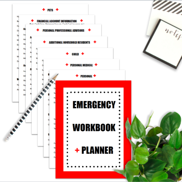 This printable emergency workbook and planner is awesome! I love how all of my family's vital information can be assembled all together in a tidy workbook for easy storage in case of an emergency. It'll be great to have all of this information right at my fingertips. No more worrying!