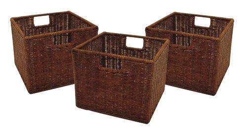 rattan basket for toy storage and organization