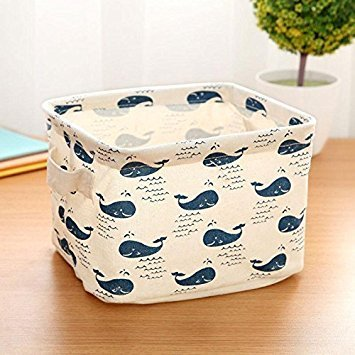 whale themed bins for small toy storage