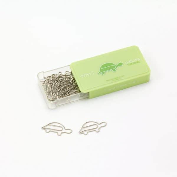 Midori D Clips turtle paper clips