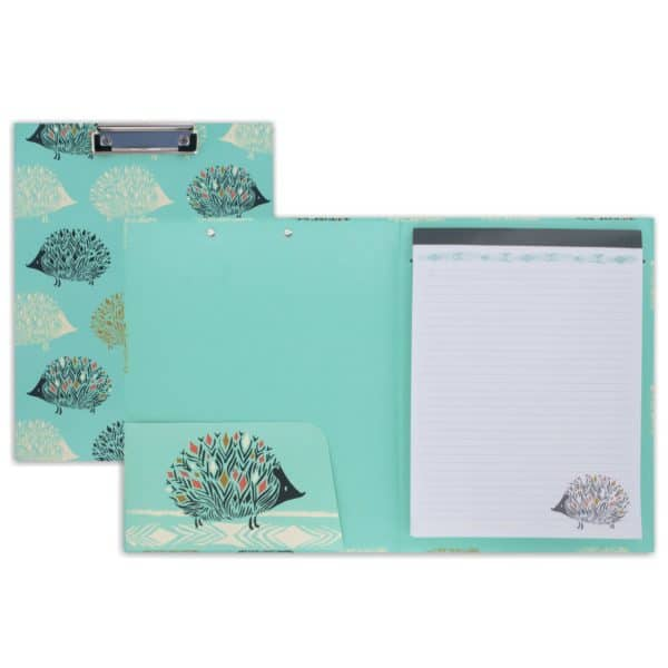 hedgehog pad folio with clipboard