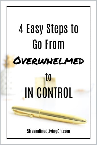 Overwhelmed and don't know where to begin? Get the skinny on 4 easy steps to going from overwhelmed to in control!