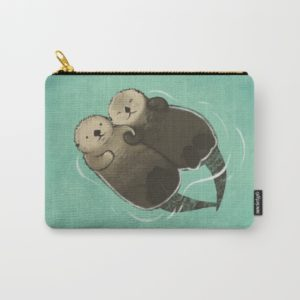 society6 otter skippered pouch