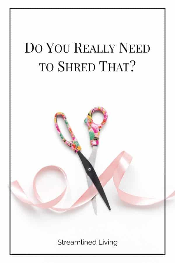 Do you really need to shred that: scissors cutting ribbon