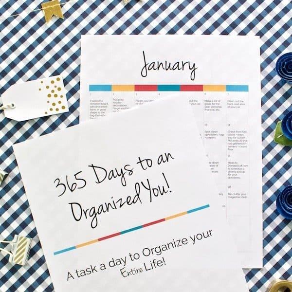 365 days to an organized you calendar
