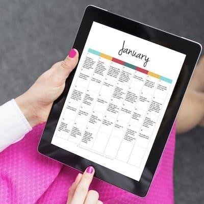 365 day organizing calendar